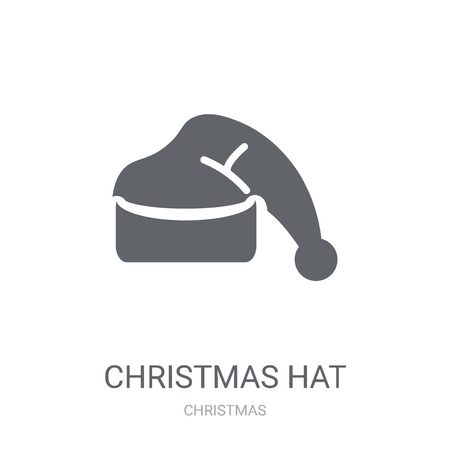 Christmas hat icon. Trendy Christmas hat logo concept on white background from Christmas collection. Suitable for use on web apps, mobile apps and print media. Ilustrace