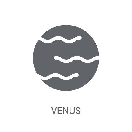 Venus icon. Trendy Venus logo concept on white background from Astronomy collection. Suitable for use on web apps, mobile apps and print media.