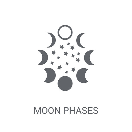 Moon phases icon. Trendy Moon phases logo concept on white background from Astronomy collection. Suitable for use on web apps, mobile apps and print media.
