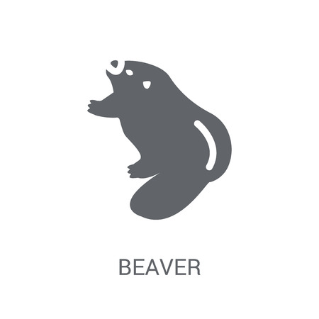 Beaver icon. Trendy Beaver logo concept on white background from animals collection. Suitable for use on web apps, mobile apps and print media. 일러스트
