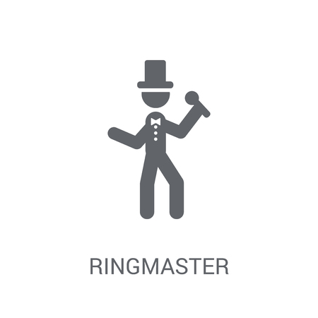 ringmaster icon. Trendy ringmaster logo concept on white background from Circus collection. Suitable for use on web apps, mobile apps and print media.