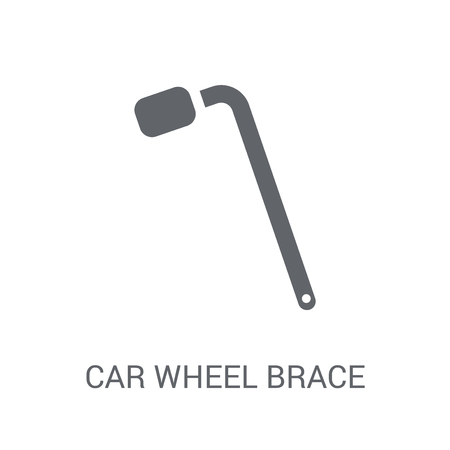 car wheel brace icon. Trendy car wheel brace logo concept on white background from car parts collection. Suitable for use on web apps, mobile apps and print media.