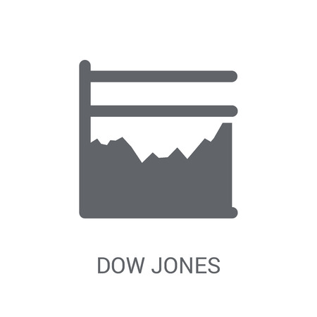 Dow Jones industrial average icon. Trendy Dow Jones industrial average logo concept on white background from business collection. Suitable for use on web apps, mobile apps and print media.