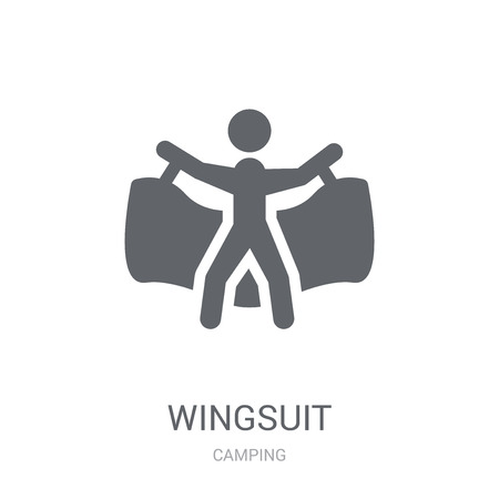 Wingsuit icon. Trendy Wingsuit logo concept on white background from camping collection. Suitable for use on web apps, mobile apps and print media.
