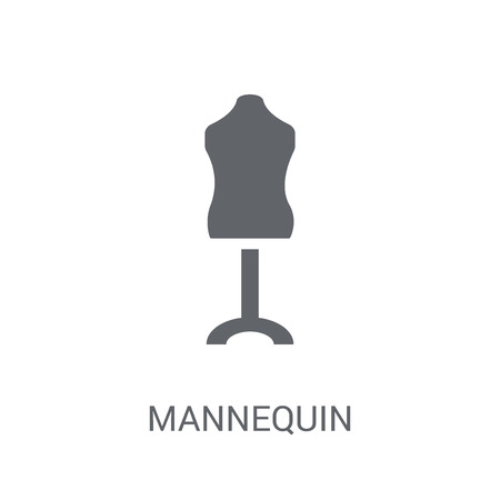 Mannequin icon. Trendy Mannequin logo concept on white background from Clothes collection. Suitable for use on web apps, mobile apps and print media. 일러스트