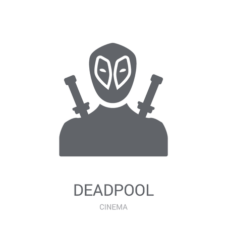 deadpool icon. Trendy deadpool logo concept on white background from Cinema collection. Suitable for use on web apps, mobile apps and print media.