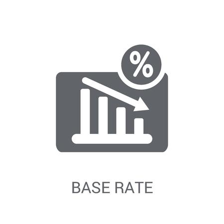 Icône de taux de base. Concept de logo de taux de base tendance sur fond blanc de la collection entreprise. Convient pour une utilisation sur des applications Web, des applications mobiles et des supports imprimés.