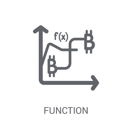 Function icon. Trendy Function logo concept on white background from Cryptocurrency economy and finance collection. Suitable for use on web apps, mobile apps and print media.