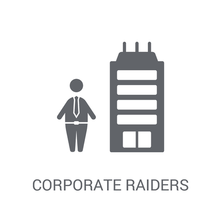 Corporate raiders icon. Trendy Corporate raiders logo concept on white background from business collection. Suitable for use on web apps, mobile apps and print media.