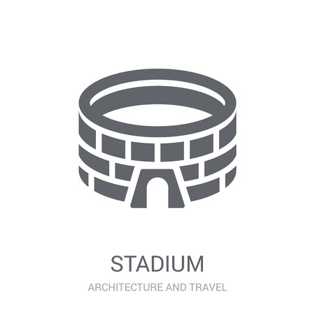 Stadium icon. Trendy Stadium logo concept on white background from Architecture and Travel collection. Suitable for use on web apps, mobile apps and print media.