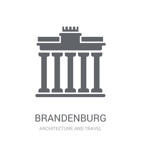 Brandenburg icon. Trendy Brandenburg logo concept on white background from Architecture and Travel collection. Suitable for use on web apps, mobile apps and print media.