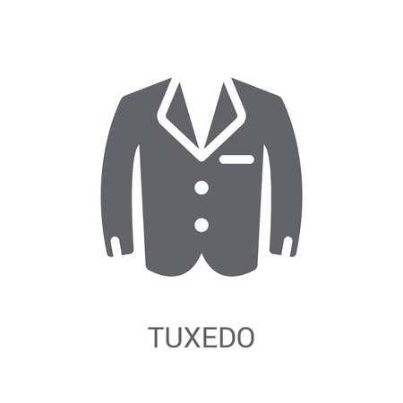 Tuxedo icon. Trendy Tuxedo logo concept on white background from Clothes collection. Suitable for use on web apps, mobile apps and print media.
