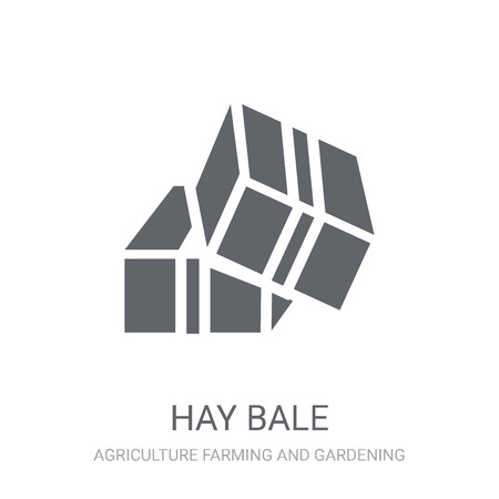Hay bale icon. Trendy Hay bale logo concept on white background from Agriculture Farming and Gardening collection. Suitable for use on web apps, mobile apps and print media.