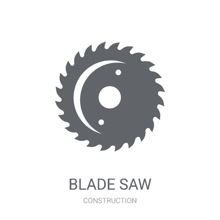 blade saw icon. Trendy blade saw logo concept on white background from Construction collection. Suitable for use on web apps, mobile apps and print media.