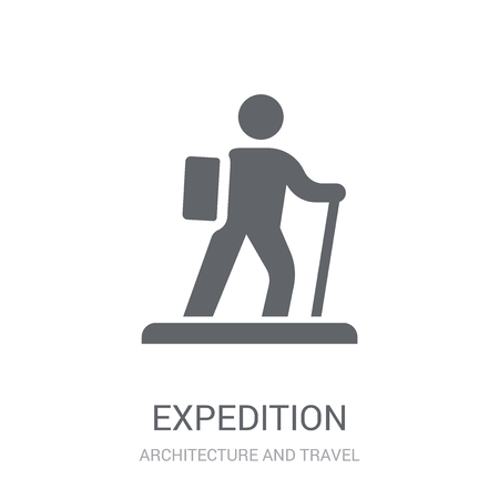 expedition icon. Trendy expedition logo concept on white background from Architecture and Travel collection. Suitable for use on web apps, mobile apps and print media.