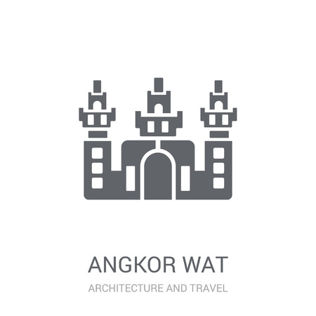 Angkor wat icon. Trendy Angkor wat logo concept on white background from Architecture and Travel collection. Suitable for use on web apps, mobile apps and print media.