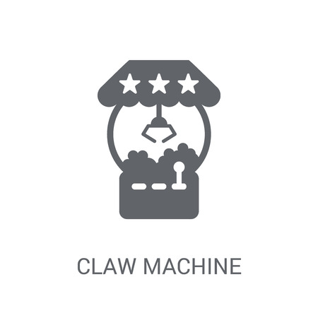 Claw machine icon. Trendy Claw machine logo concept on white background from Circus collection. Suitable for use on web apps, mobile apps and print media.