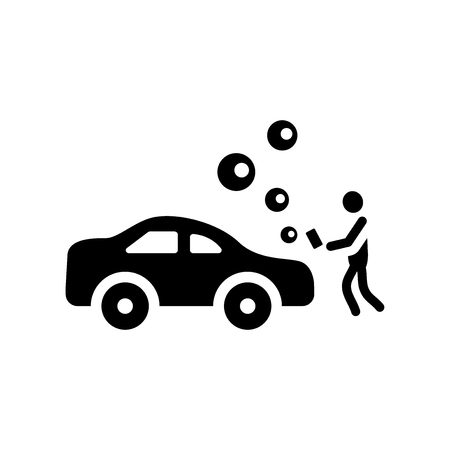 Car wash icon. Trendy Car wash logo concept on white background from cleaning collection. Suitable for use on web apps, mobile apps and print media.