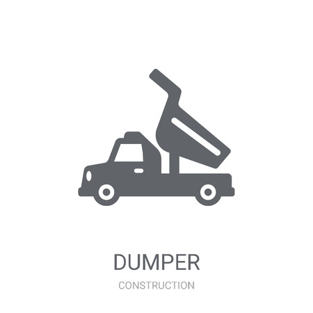 Dumper icon. Trendy Dumper logo concept on white background from Construction collection. Suitable for use on web apps, mobile apps and print media.