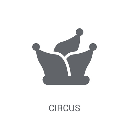 Circus icon. Trendy Circus logo concept on white background from Circus collection. Suitable for use on web apps, mobile apps and print media.