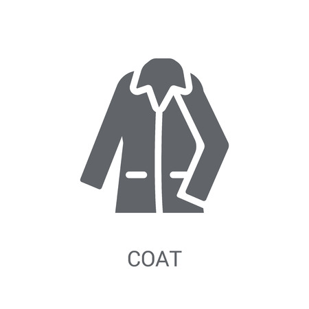 Coat icon. Trendy Coat logo concept on white background from Clothes collection. Suitable for use on web apps, mobile apps and print media. Illustration