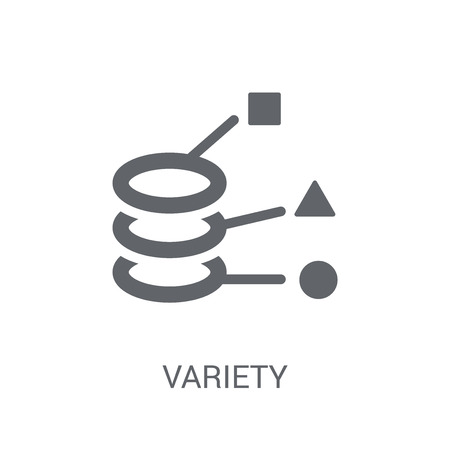 Variety icon. Trendy Variety logo concept on white background from Business and analytics collection. Suitable for use on web apps, mobile apps and print media. Illustration