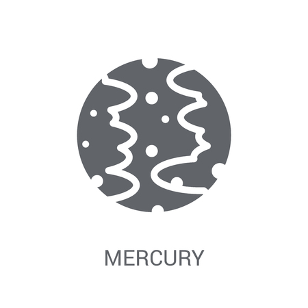 Mercury icon. Trendy Mercury logo concept on white background from Astronomy collection. Suitable for use on web apps, mobile apps and print media.