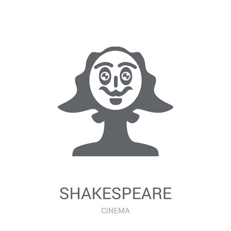Shakespeare icon. Trendy Shakespeare logo concept on white background from Cinema collection. Suitable for use on web apps, mobile apps and print media.