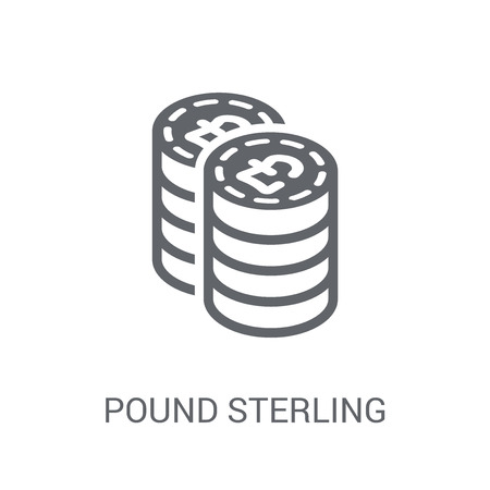 Pound sterling icon. Trendy Pound sterling logo concept on white background from Cryptocurrency economy and finance collection. Suitable for use on web apps, mobile apps and print media.