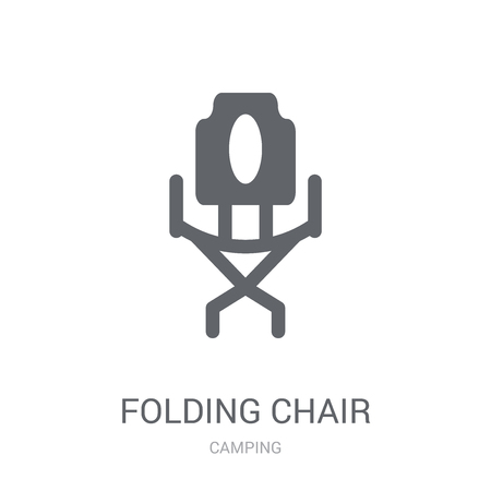 Folding Chair icon. Trendy Folding Chair logo concept on white background from camping collection. Suitable for use on web apps, mobile apps and print media.