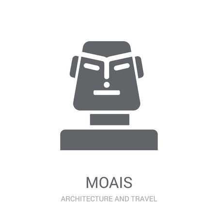 Moais icon. Trendy Moais logo concept on white background from Architecture and Travel collection. Suitable for use on web apps, mobile apps and print media.