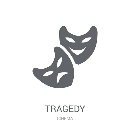 tragedy icon. Trendy tragedy logo concept on white background from Cinema collection. Suitable for use on web apps, mobile apps and print media. Illusztráció