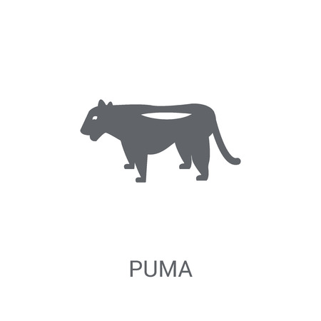 puma icon. Trendy puma logo concept on white background from animals collection. Suitable for use on web apps, mobile apps and print media.