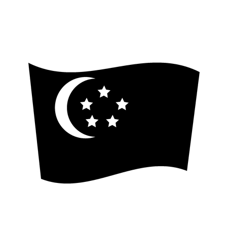 Singapore flag icon. Trendy Singapore flag logo concept on white background from Country Flags collection. Suitable for use on web apps, mobile apps and print media. Illustration