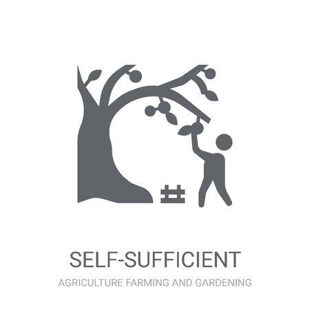 self-sufficient icon. Trendy self-sufficient logo concept on white background from Agriculture Farming and Gardening collection. Suitable for use on web apps, mobile apps and print media. Stock Illustratie
