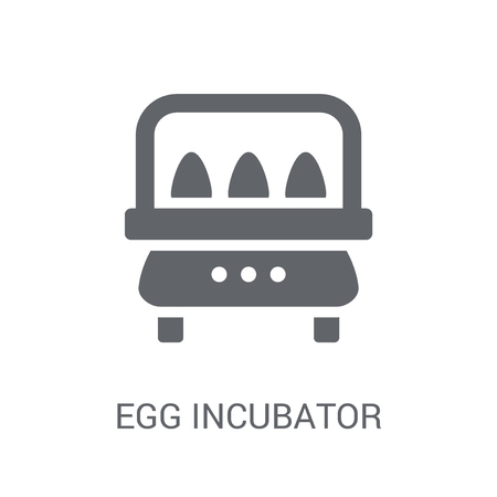 Egg incubator icon. Trendy Egg incubator logo concept on white background from Artificial Intelligence collection. Suitable for use on web apps, mobile apps and print media.