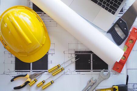 Contractors desk and engineering team. Reklamní fotografie