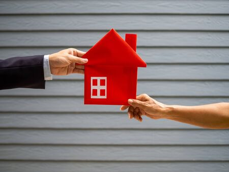 Buying and selling houses concept Stock fotó
