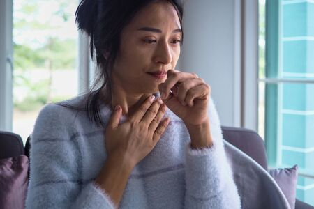 Asian women have angina, high fever and chronic cough.