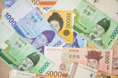 Current Use of South Korean Won Currency in Different value.