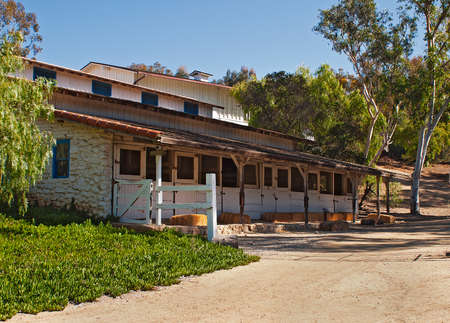 carlsbad: the outdoor ranch stables at  Leo Carrillo.
