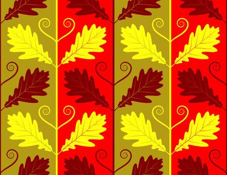 seamless oak leaves texture Vector