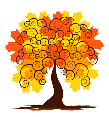 abstract autumn tree on white background Stock Vector - 8106615