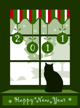 Frohes neues Jahr 2011 Hintergrund Vektor