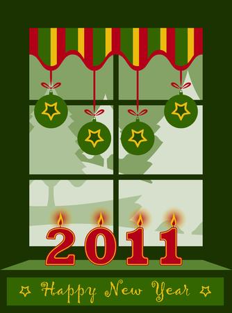 vector happy new year 2011 background Stock Vector - 8372167