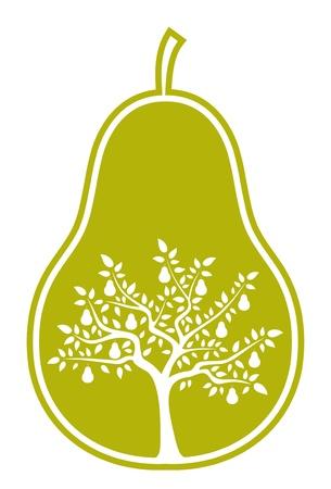 梨: 梨に梨の木