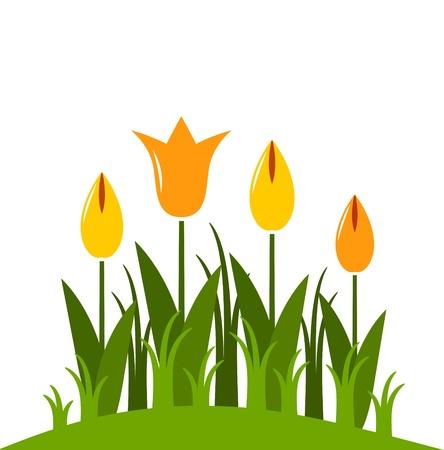 clump: tulips Illustration