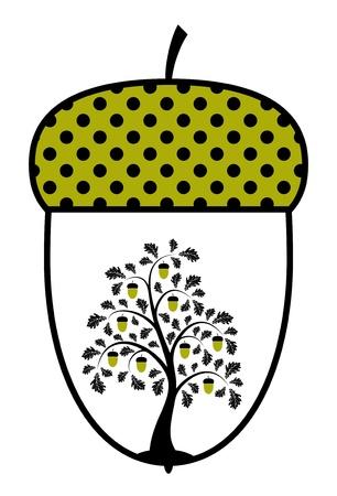 ドングリの樫の木
