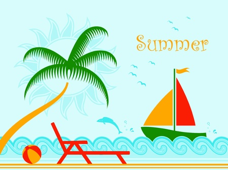 summer background Stock Vector - 9493537
