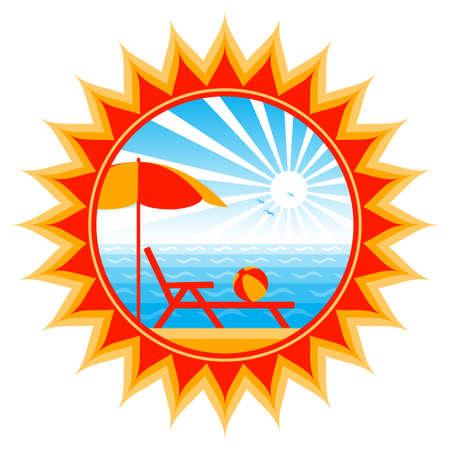 beach scene in sun Stock Vector - 9669260